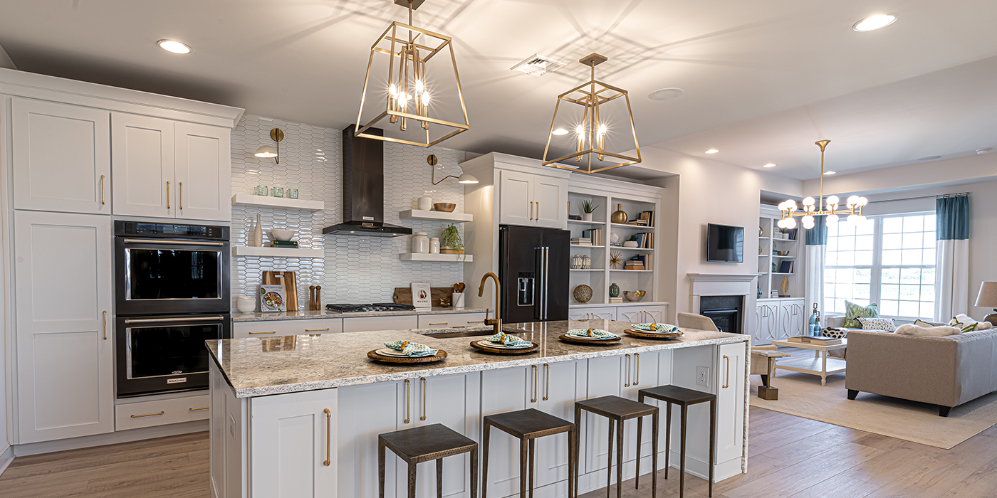 Kitchen in a new home from Whispering Woods Community.
